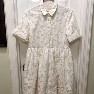 Kate Spade Tobin Floral White Shirtdress